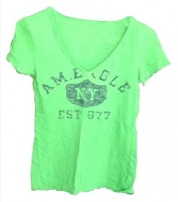 Preload https://img-static.tradesy.com/item/14998/american-eagle-outfitters-lime-green-deep-v-neck-graphic-tee-shirt-size-2-xs-0-0-650-650.jpg