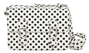 Forever 21 Canvas Casual Satchel in Black White Polka Dot