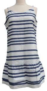 Gap short dress White/blue on Tradesy