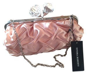 Sondra Roberts Bridal Quilted Prom Satin Champagne Clutch