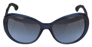 Chanel Chanel Navy Blue Frame And Tweed Sunglasses.