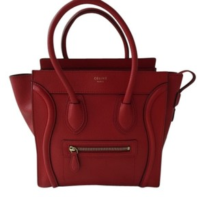 Céline Tote in Coquelicot Red
