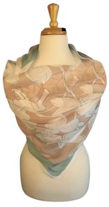 Valentino SUMMER CHIC! NEW Couture Silk Chiffon Orchid-Design Foulard Scarf Wrap
