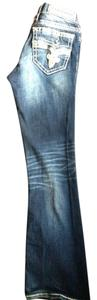 Rock Revival Miss Me The Buckle Buckle Bling Boot Cut Jeans-Medium Wash