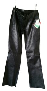 Wilsons Leather Boot Cut Pants Black