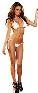 Sexy White 2 Piece Lingerie Sleepwear Or Beach Bikini Swimsuit