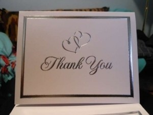 White Wilton Thank You Cards