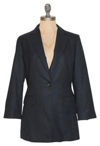 Barneys New York Striped Pinstripe BLACK Blazer