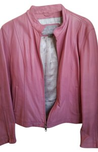Wilsons Leather Bomber Pink Leather Jacket