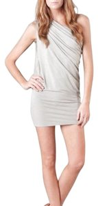 Riller & Fount short dress heather grey Summer Drape Cutout Back on Tradesy