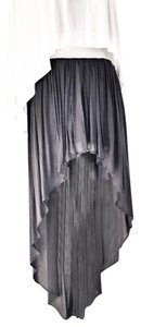 Riller & Fount Flare Pleated Maxi Skirt charcoal