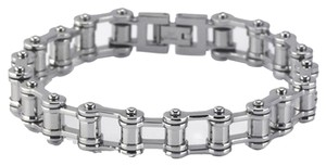 Unique Edgy Designer Stainless Steel Bicycle Chain Bracelet