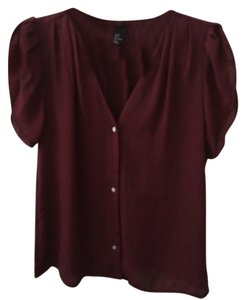 H&M Top Burgundy