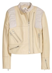H&M Nude / Natural Leather Jacket