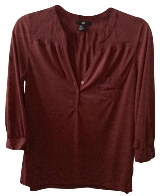 H&M T Shirt Burgundy