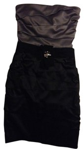 White House | Black Market Strapless Two-tone Fitted Dress