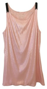 INC International Concepts Sequin Bows Pastel Blush Top Pink