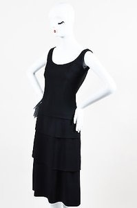 Jean-Louis Scherrer Vintage Jean Louis Scherrer Tiered Sleeveless Cocktail Dress