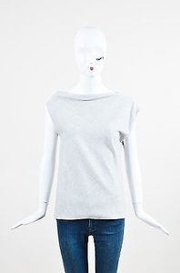 Altuzarra Sleeveless Boatneck Asymmetrical Top Gray