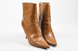 Jimmy Choo Tan Leather Brown Boots