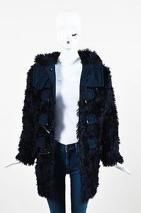Marc Jacobs Midnight Navy Faux Fur Toggle Jacket Coat