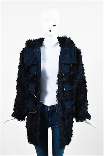 30%OFF Marc Jacobs Midnight Navy Blue Faux Fur Toggle Jacket
