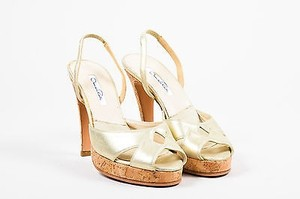 Oscar de la Renta Metallic Gold Sandals