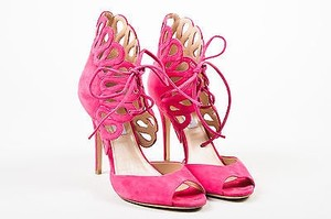 Monique Lhuillier Suede Pink Sandals