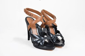 BCBGMAXAZRIA Max Azria Brown Strappy Black Sandals