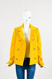 Wes Gordon Mustard Pea Coat