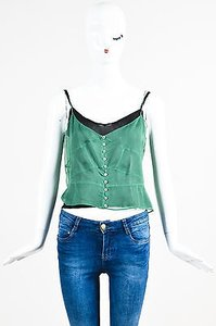 Marc Jacobs Sheer Black Top Green