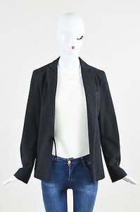 Jil Sander Jil Sander Charcoal Gray Wool Long Sleeve Blazer Jacket