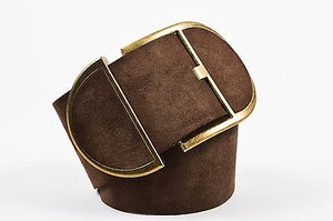 Dolce&Gabbana Dolce Gabbana Brown Suede Wide Belt 8032