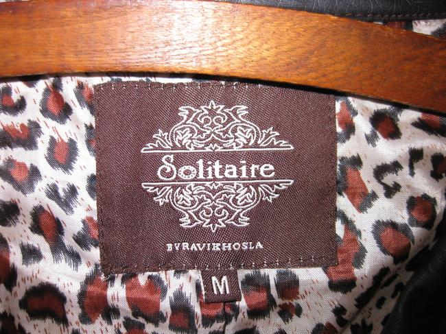 Other Vegan Faux Leather Leopard Military Motorcycle Jacket