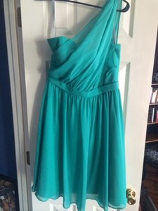 Alfred Angelo Jade Chiffon 7243s Modern Bridesmaid/Mob Dress Size 6 (S)
