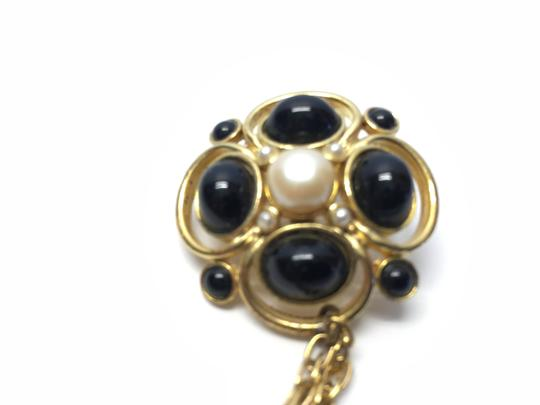 Other Vintage Sweater Pin; Faux Onyx and Pearl[ Roxanne Anjou Closet ]