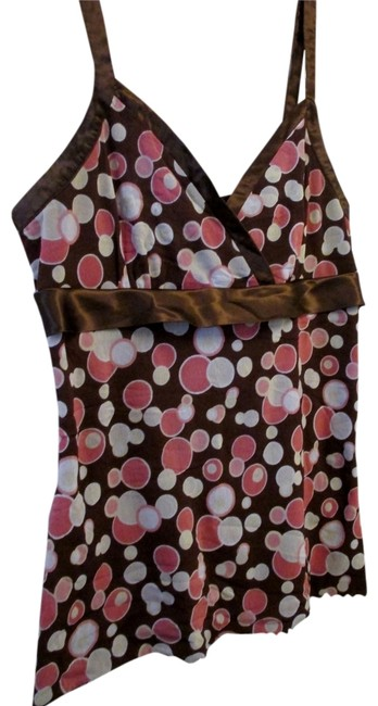 INC International Concepts Polka Large Top Brown