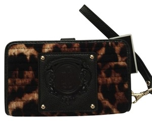 Juicy Couture Wristlet in Brown & Black Multi