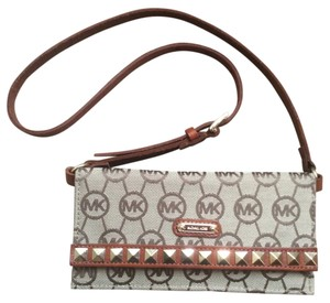 Michael Kors Wristlet in Brown Monogram Waist Bag