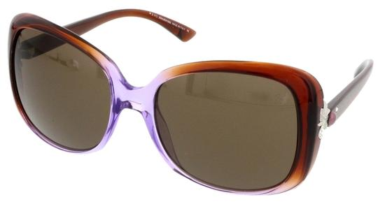 Swarovski Swarovski Havana/Purple Gradient Square Sunglasses