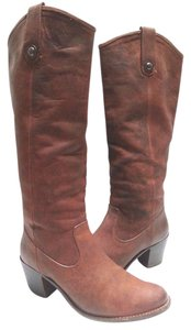 Frye Leather Western Riding Brown Boots