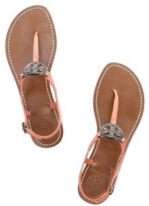 Tory Burch Coral pink orange Sandals