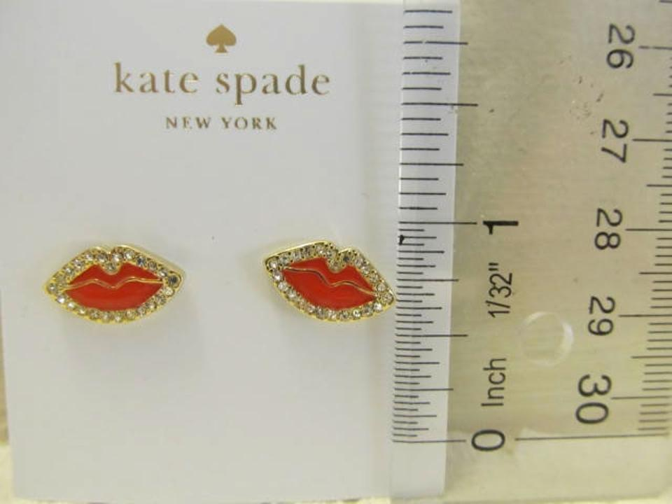 Kate Spade Red New York Love List Lip Stud Style Wbrub194
