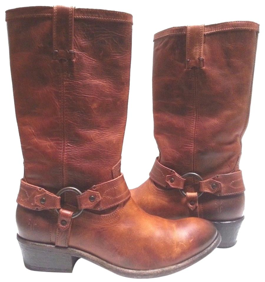 Frye Cognac Carson Harness Boots/Booties Size US 9.5 Regular (M, B