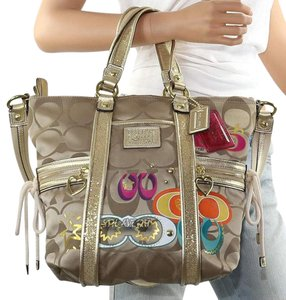 Coach Satchel in multi colors