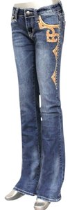 Montana West Stretchy Hip Hugger Denim Size 10 Western Cowboy The Treasured Hippie Hippy Trendy Unique Affordable Cowgirl Hippie Boot Cut Jeans