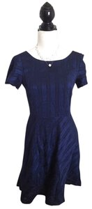 Antonio Melani short dress navy Skater Pinstripe Retro on Tradesy