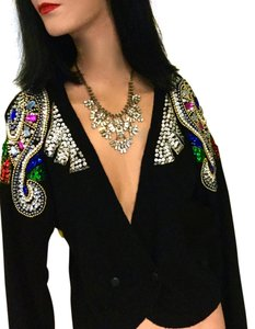 Joule Evening Sweater Bling Sweater Adornment Sweater Crystals Sequine Sweater Cardigan
