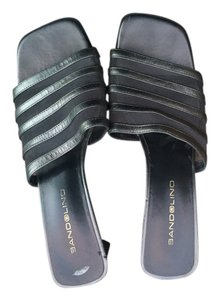 Bandolino Leather Formal Casual Silver & Grey Mules