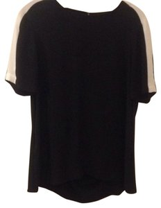 BCBGMAXAZRIA Top Black/Off White